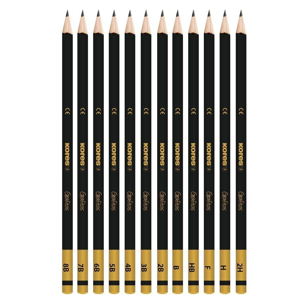 Zestaw Grafitos Set, 12 szt, różne stopnie twardości