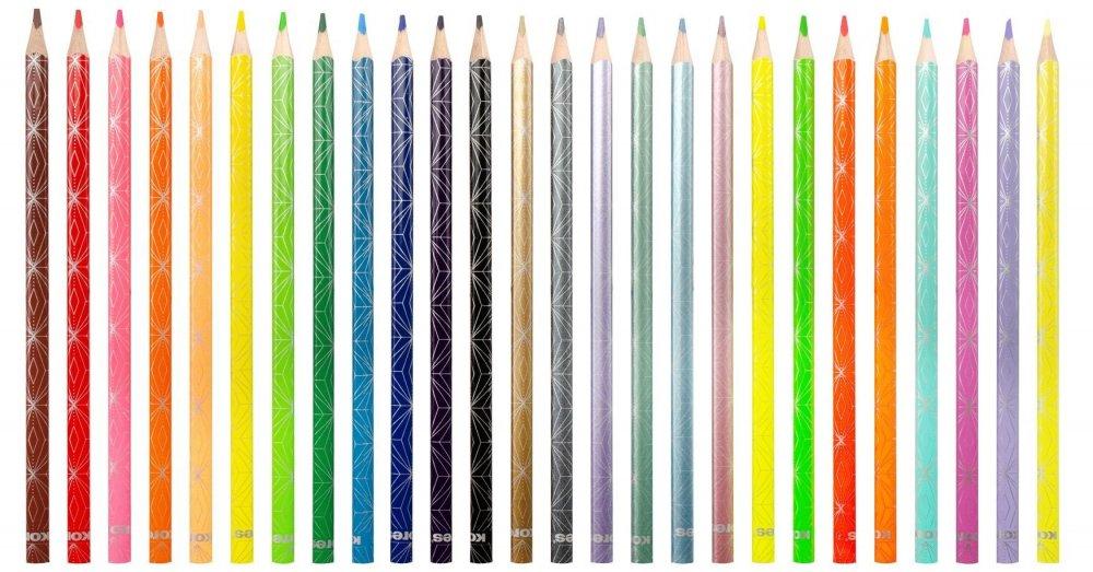 Trójkątne kredki Kolores STYLE , 3 mm / 26 kolorów