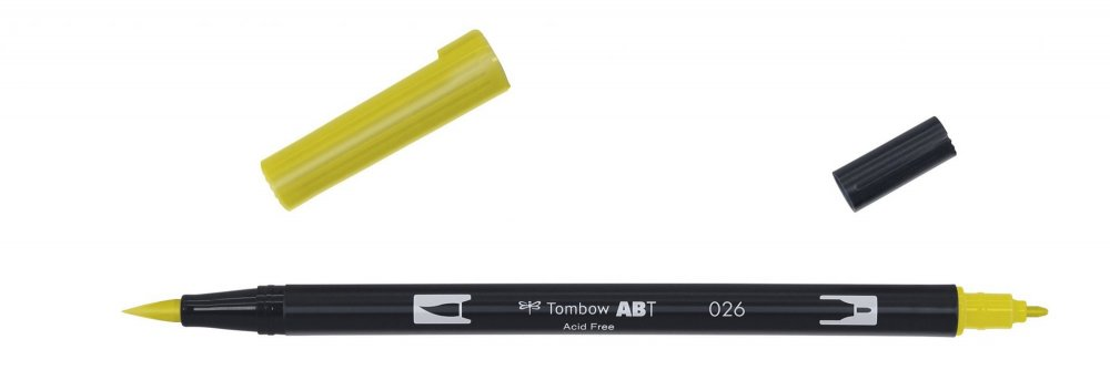 Flamaster Brush pen ABT, yellow gold