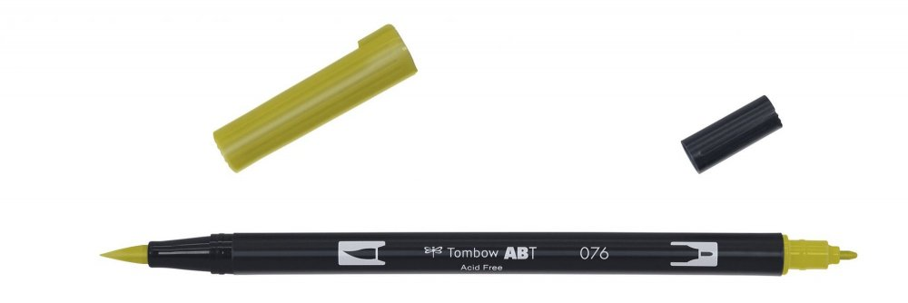 Flamaster Brush pen ABT, green ochre