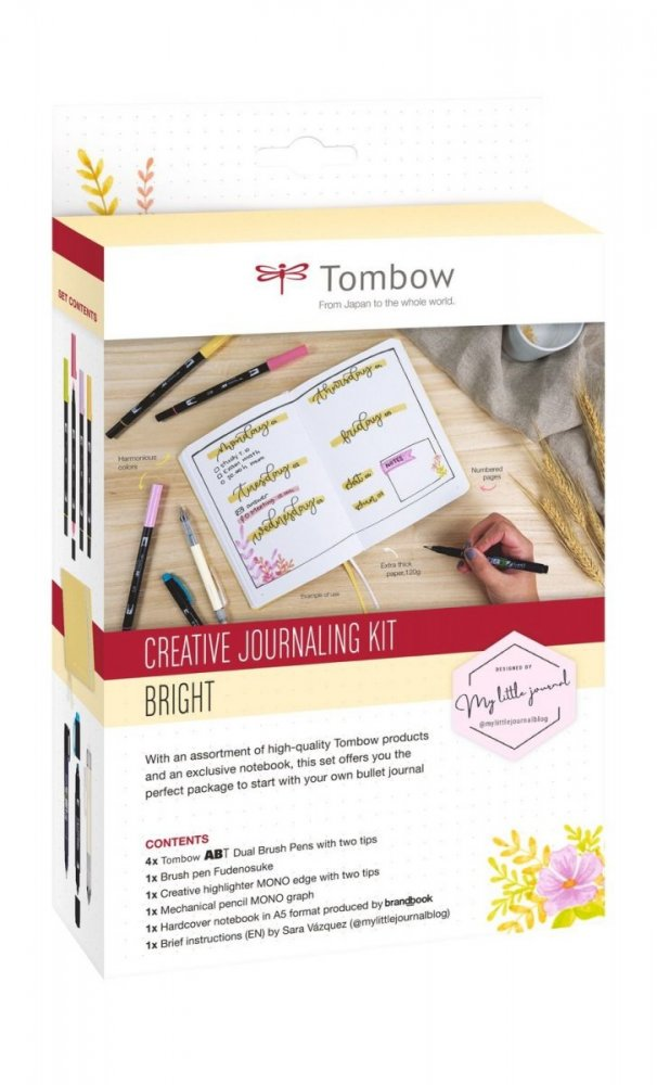 Tombow Zestaw Creative Journaling Kit Bright
