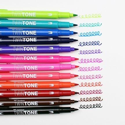 Marker TwinTone, 12 sztuk, żywe kolory