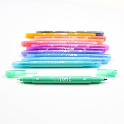 Marker TwinTone, 12 sztuk, pastelowe kolory
