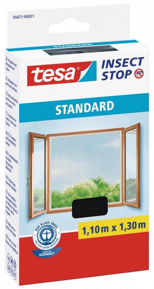 Síť proti hmyzu STANDARD, na okno, antracitová, 1,1m x 1,3m