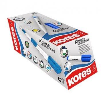 K-MARKER do białych tablic XW2, ścięta końcówka, niebieski / 12 sztuk w displayu (cena za 1 szt.)