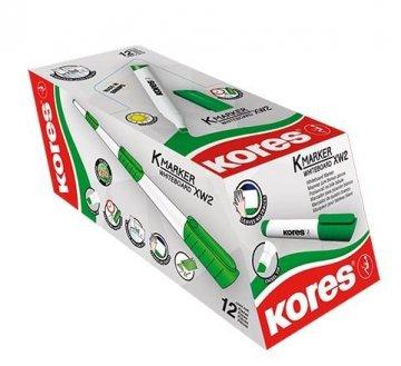 K-MARKER do białych tablic XW2, ścięta końcówka, zielony  / 12 sztuk w displayu (cena za 1 szt.)