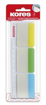 Duże zakładki indeksujące transparentne,  3 kolory 37x50mm