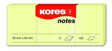 Karteczki samoprzylepne żółte 50x40mm