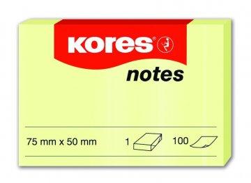 Karteczki samoprzylepne żółte 75x50mm