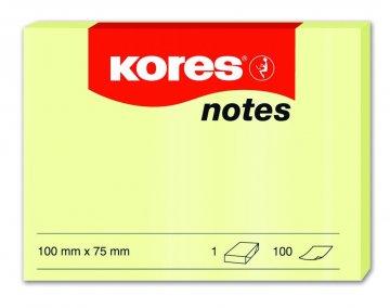 Karteczki samoprzylepne żółte 100x75mm