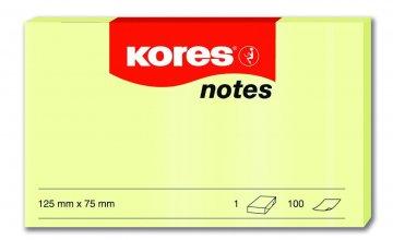 Karteczki samoprzylepne żółte 125x75mm