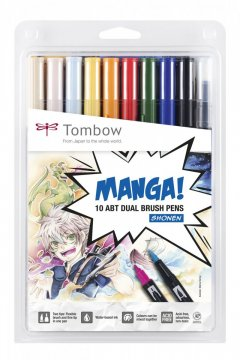 Flamaster Brush pen ABT - MangaSet Shonen, 10 szt.