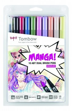 Flamaster Brush pen ABT - MangaSet Shojo, 10 szt.