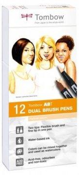 Tombow Flamaster Brush pen ABT – Portrait colours, 12 szt.