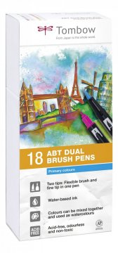 Flamaster Brush pen ABT – Primary colours, 18 szt.