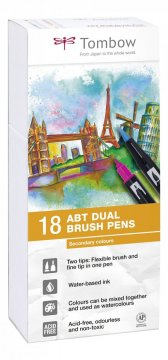 Flamaster Brush pen ABT – Secundary colours, 18 szt.