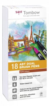 Flamaster Brush pen ABT – Earth colours, 18 szt.