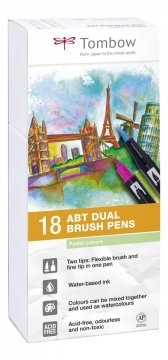 Flamaster Brush pen ABT – Pastels, 18 szt.