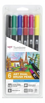 Flamaster Brush pen ABT – Primary colours, 6 szt.