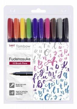 Flamaster Brush pen Fudenosuke, 10 szt.
