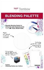 Tombow Paleta do mieszania kolorów, 3 ks